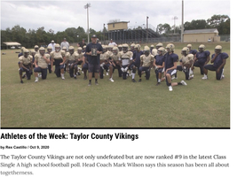 Athletes of the week: TCHS Football Team